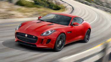 Jaguar F-type S Coupe red front