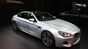BMW M6 Gran Coupe at the Detroit show front