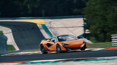 McLaren 600LT first drive - sideways