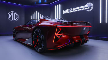 MG Cyberster Roadster concept – rear quarter