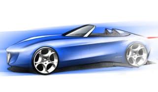 Pininfarina Alfa Romeo concept sketch