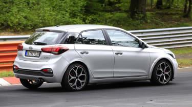 Hyundai i20 N spy - rear quarter