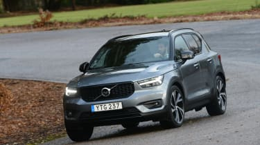 Volvo XC40 - grey cornering
