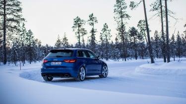 Audi RS3 - snow rear