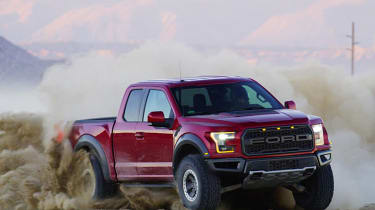 Ford Raptor F-150 red