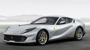 Ferrari 812 Superfast configured silver front