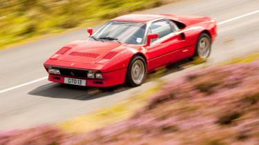 188mph Ferrari 288 GTO: A true Group B homologation special based on the 308GTB. Sadly the GTO was never raced, but it was st