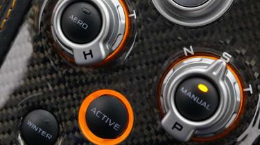 McLaren MP4-12C active dynamics Sport Track mode