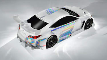Lexus RC-F GT3 racing car rear view