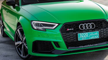 Audi RS3 Saloon Green front