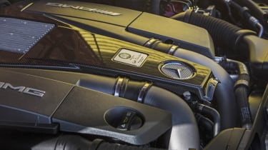 Mercedes CLS63 AMG S biturbo engine
