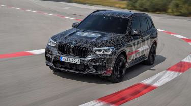 BMW X3 M and X4 M prototypes - front