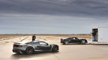 Two Hennessey Venom GTs on the runway