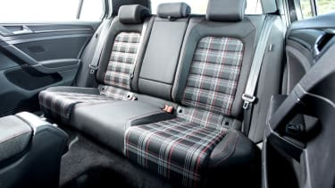 2013 mk7 VW Golf GTI rear seats tartan