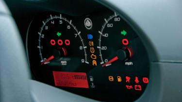 Lotus Exige S2 dashboard warning lights