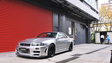 Nissan Skyline R34 at the NISMO factory