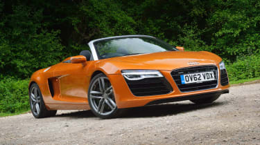 Best convertible cars: Audi R8 Spyder V8