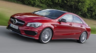 2013 Mercedes CLA45 AMG red front