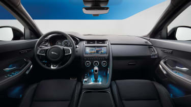 Jaguar E-Pace - driving static R Design interior