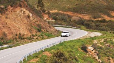 Porsche Cayman S 2013 cornering