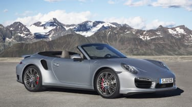 2013 Porsche 911 Turbo silver front