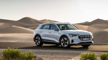 Audi e-tron 2019 on road