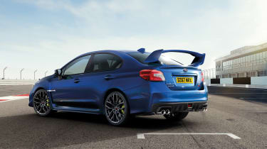 Subaru celebrates final WRX STI rear quarter