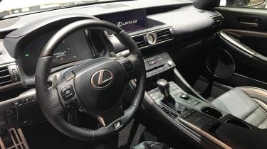 Lexus RC300h F Sport Black Edition – cabin