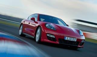Porsche Panamera GTS on track