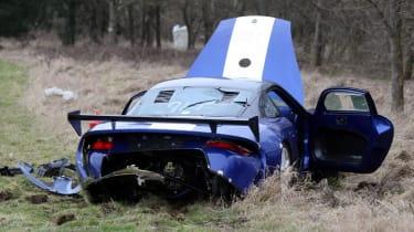 crashed 9ff GT9R rear1