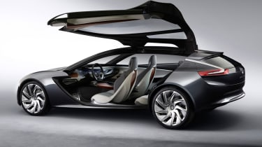 Opel Monza concept car huge gullwing door
