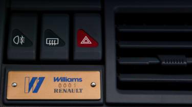 Renault Clio Williams - plaque
