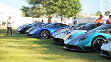 Pagani 20th Anniversary Goodwood FoS