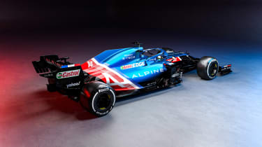 2021 Formula 1 racers – Alpine rear