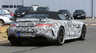 Mercedes-AMG GT R roadster spy - rear quarter