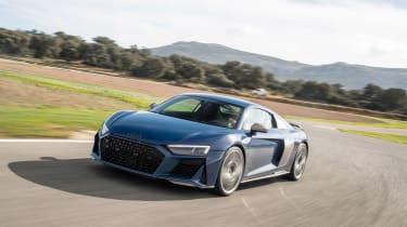 Audi R8 facelift review - front quarter
