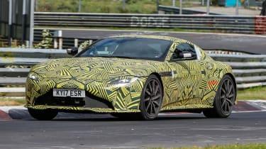 Aston Martin V8 Vantage spy - front quarter