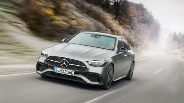 2021 Mercedes C-class revealed - front tracking