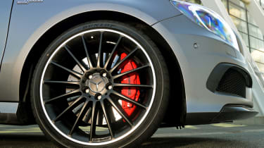 2013 Mercedes A45 AMG black alloy wheel