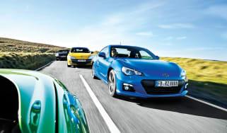 Subaru BRZ vs Nissan 370Z, Mazda MX-5 and Renault Megane 265