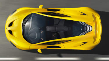 McLaren P1 supercar overhead view