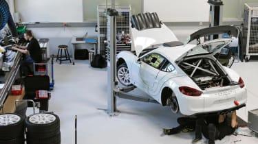 Porsche Cayman GT4 Clubsport rally - rear