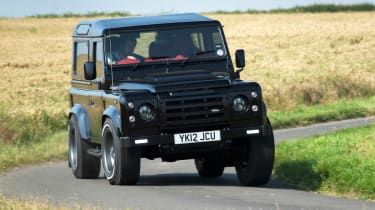 Twisted Land Rover Defender front corner