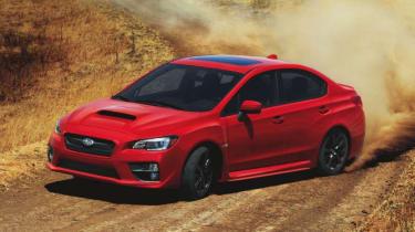 New Subaru WRX red drift