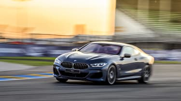 BMW 8-series front cornering