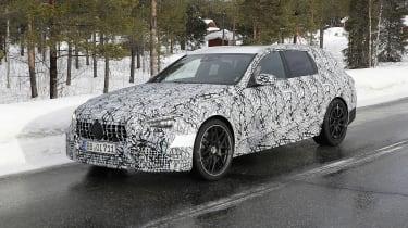 Mercedes-AMG C63 Estate 2021 spy - front quarter