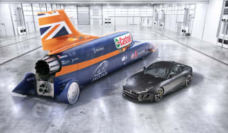 Jaguar F-type R AWD and Bloodhound SSC