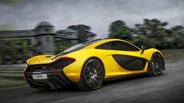 McLaren P1 yellow Goodwood House
