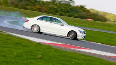 Mercedes C63 AMG world drift record attempt