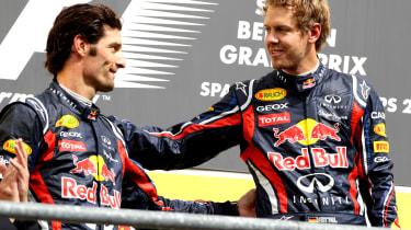 Mark Webber Sebastian Vettel Red Bull teammates